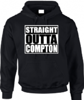 STRAIGHT OUTTA COMPTON HOODIE - INSPIRED BY NWA  ICE CUBE EAZY-E DR.DRE